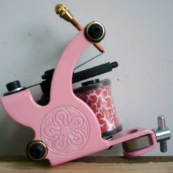 Pink Color Tattoo Lining Machine For Girl Gucy10