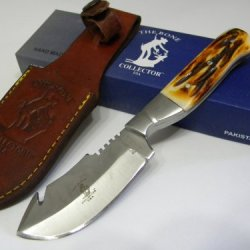 Hand Made Skinning Gut Hook Hunting Knife Bc804