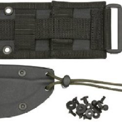 Esee Knives 21Ss Black Kydex® Model 4 Sheath With Molle Locks & Molle Back With Paracord & Cord Lock