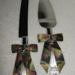 Camo Redneck Wedding Deer Hunter Hunting Cake Knife Set