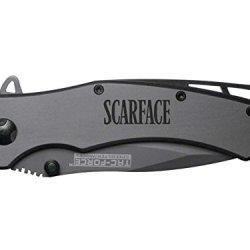 Scarface Text Engraved Tac-Force Tf-820Gy Speedster Model Folding Pocket Knife By Ndz Performance