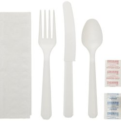 Wna 611917 6-Piece Cutlery Kit, White Polystyrene Cutlery (Case Of 250)