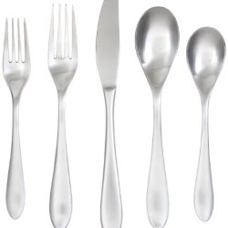 Cambridge Silversmiths Zurich Mirror 20-Piece Flatware Set, 18/0 Stainless Steel