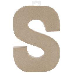 """Paper Mache Letter 8""""X5-1/2""""-Letter S"""