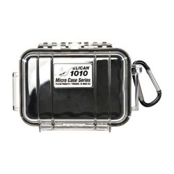Pelican 1010 Black Micro-Case With Black Lid And Carabiner