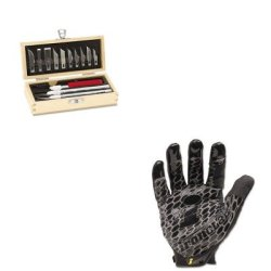 Kitepix5082Irnbhg04L - Value Kit - X-Acto Knife Set (Epix5082) And Ironclad Performance Wear Box Handler Gloves (Irnbhg04L)