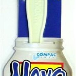 Compac Mayo Knife Spreader Plastic Knife Shaped To The Contour Of Mayonnaise Jars