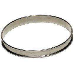 Matfer Bourgeat 371615 Plain Tart Ring, Silver