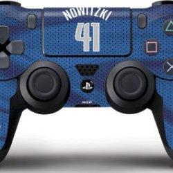 Nba - Player Jerseys - Dirk Nowitzki Dallas Mavericks Jersey - Skin For Sony Playstation 4 / Ps4 Dualshock4 Controller