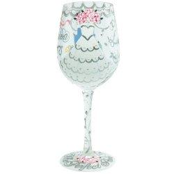 Santa Barbara Design Studio Gls11-5522X Lolita Love My Wine Hand Painted Glass, Bride