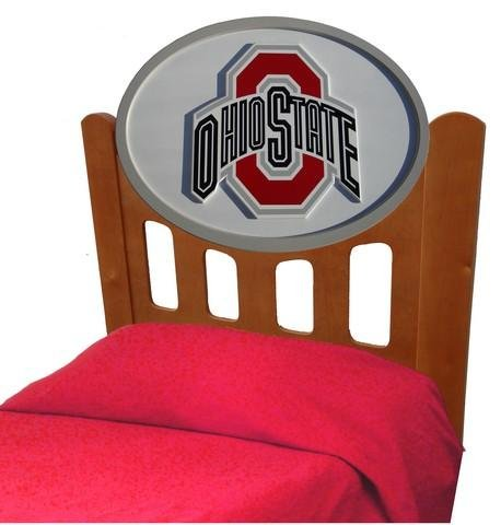 Image of Ohio State University Buckeyes Kids Wooden Twin Headboard With Logo (C0526S-Ohio State)