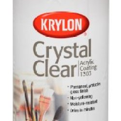 Krylon 1303 Acrylic Spray Paint Crystal Clear In 11-Ounce Aerosol