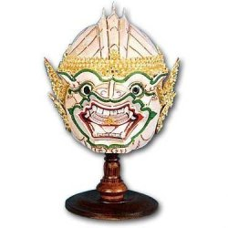 Valentines Day Gifts Thai Crafts Handmade Ramayana Hanuman Murti Model Head Thailand Souvenir Product