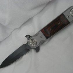 Assisted Pocket Knife W/Wooden Handle S-1006Bk