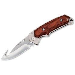 Buck 276 Folding Alpha Hunter, Rosewood Handles With Gut Hook, Liner Lock Folding Knife