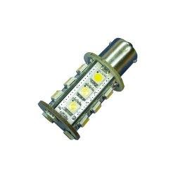 Ledwholesalers Miniature Bulb Ba15S 1156 Base Single Contact Bayonet 8-30 Volt 18 X 5050 Smd Led 3.6W White, 1419Wh