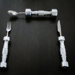 Eat Fit Dumbbell Cutlery