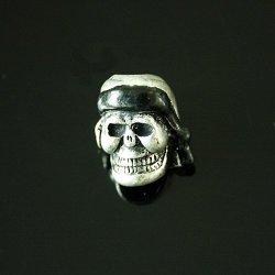 10 Pcs Gitd Skeleton Skull Beads ,Knife/ Flashlight/ Paracord Bracelet Accessories (No4)