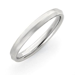 14K White Gold 3Mm Knife Edge Wedding Band, Best Quality Free Gift Box Satisfaction Guaranteed