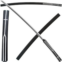 Mugen Shirasaya Stick Sword - Natural Black Wood - 41 Inches