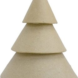 Decopatch Mache Christmas Tree, Brown