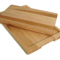 J.K. Adams 19-Inch-By-12-Inch Maple Wood Sutton Cut And Serve Tray With Cutting Board Insert