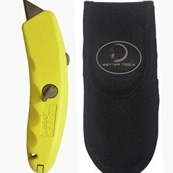 Better Tools #60102 - Retractable Banana Utility Knife, Free Holster