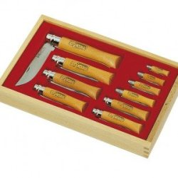 Opinel Carbon Blade Gift Set - Glass Top