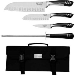 Top Chef 5 Piece Stainless Steel Knife Set - Portable-1 Ea