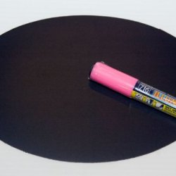Magnetic Backed Kitchen Or Office Ziggyboard Chalkboard With Pink Chalk Marker 6 X 9 Inch Ty Euro Oval Shape