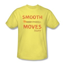 Skippy Brand Peanut Butter Food Product Smooth Moves Adult T-Shirt Tee