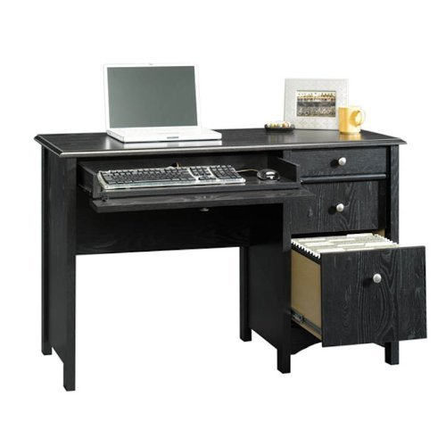 Picture of Comfortable Estate Black Computer Desk with File Drawer (B003OELJEU) (Computer Desks)