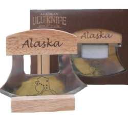 Alaska Ulu Knife With Stainless Steel Blade