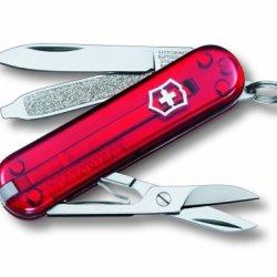 Victorinox Swiss Army Classic Sd Pocket Knife (Translucent Ruby)