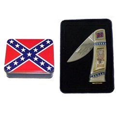 Sale Confederate General Beauregard Collector Knife Ck215Bt