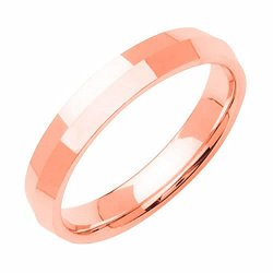 14K Rose Gold Traditional Knife Edge Women'S Wedding Band (4Mm) Size-4