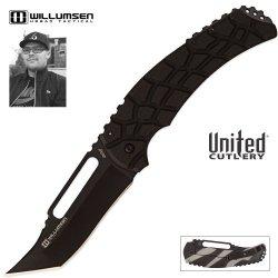 United Cutlery Uc2870 Willumsen Urban Tactical Blondie Folding Knife, Black