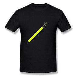 Knife Crazy 100% Cotton Black Tee Shirts For Guys Size S
