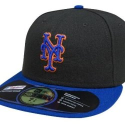 New York Mets Mlb Authentic Baseball Cap 7-3/8 Osfa - Like New