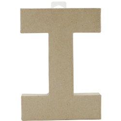 "Paper Mache Letter 8""X5-1/2""-Letter I"