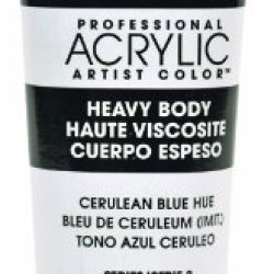 Liquitex Professional Heavy Body Acrylic Paint 2-Oz Tube, Cerulean Blue Hue