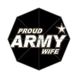 Jdsitem Simple Proud Army Wife Star Design Auto Automatic Folding Foldable Open Close Umbrella