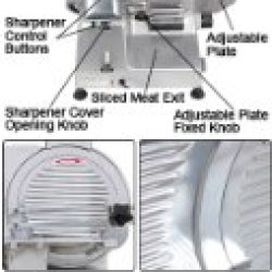 "Electric Food Slicer Deli Meat Cutter With 10"" Blade"