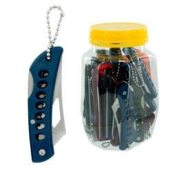 Pocket Knife Stainless Steel W/Plastic Handle (24 Per Jar) - Case Of 24
