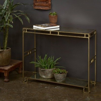 Image of Brass Cubist Console Table (o1170211101)