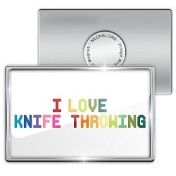 Fridge Magnet I Love Knife Throwing, Colorful - Neonblond