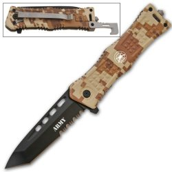 Cld164 8 Inch Tanto Lebv8Y9Aqz Blade Trigger Assisted Knife- Desert Camo Army Folding Knife Edge Sharp Steel Ytkbio Tikos567 Bgf This Knife Series Features Well Crafted Handles E34E3 And Razor Sharp German Surgical Steel Blades. Each Handle Is Made To Gri