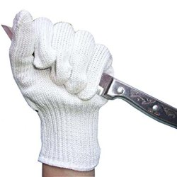 Lefright(Tm) White Cut Resistant Gloves Safety Gloves Ce Level 5 Protection From Kitchen Knives, Mandoline & Graters With Stainless Steel Wire (1 Piece)