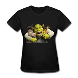 Wei-Jr Women'S Shrek T-Shirts Size Xxl Black