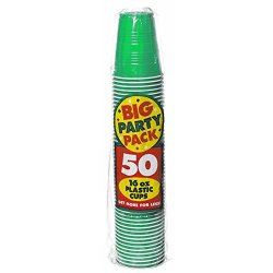 Festive Green Big Party Pack - 16 Oz. Plastic Cups